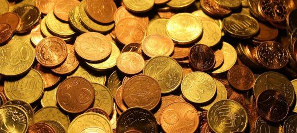 Gelmünzen zum Sparen