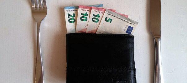 Geldbörse mit Mindestlohn
